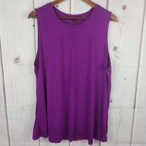 Ellen Tracy Purple Sleeveless Top Sz XL